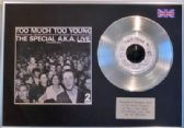 "THE SPECIALS  - 7"" Platinum Disc + cover - THE SPECIAL A.K.A. LIVE  ( 2 TONE )"